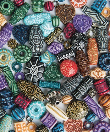 assortment of beads