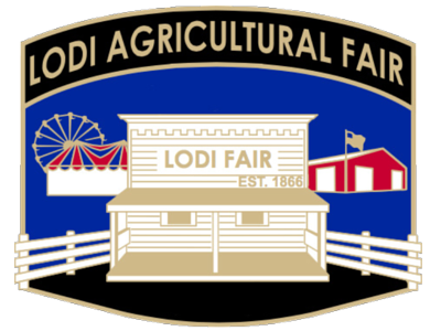 Lodi Agricultural Fair logo with historic ticket booth image