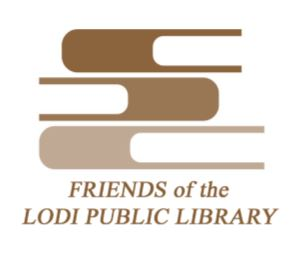 logo of Friends of the Lodi Public Library (brown color)
