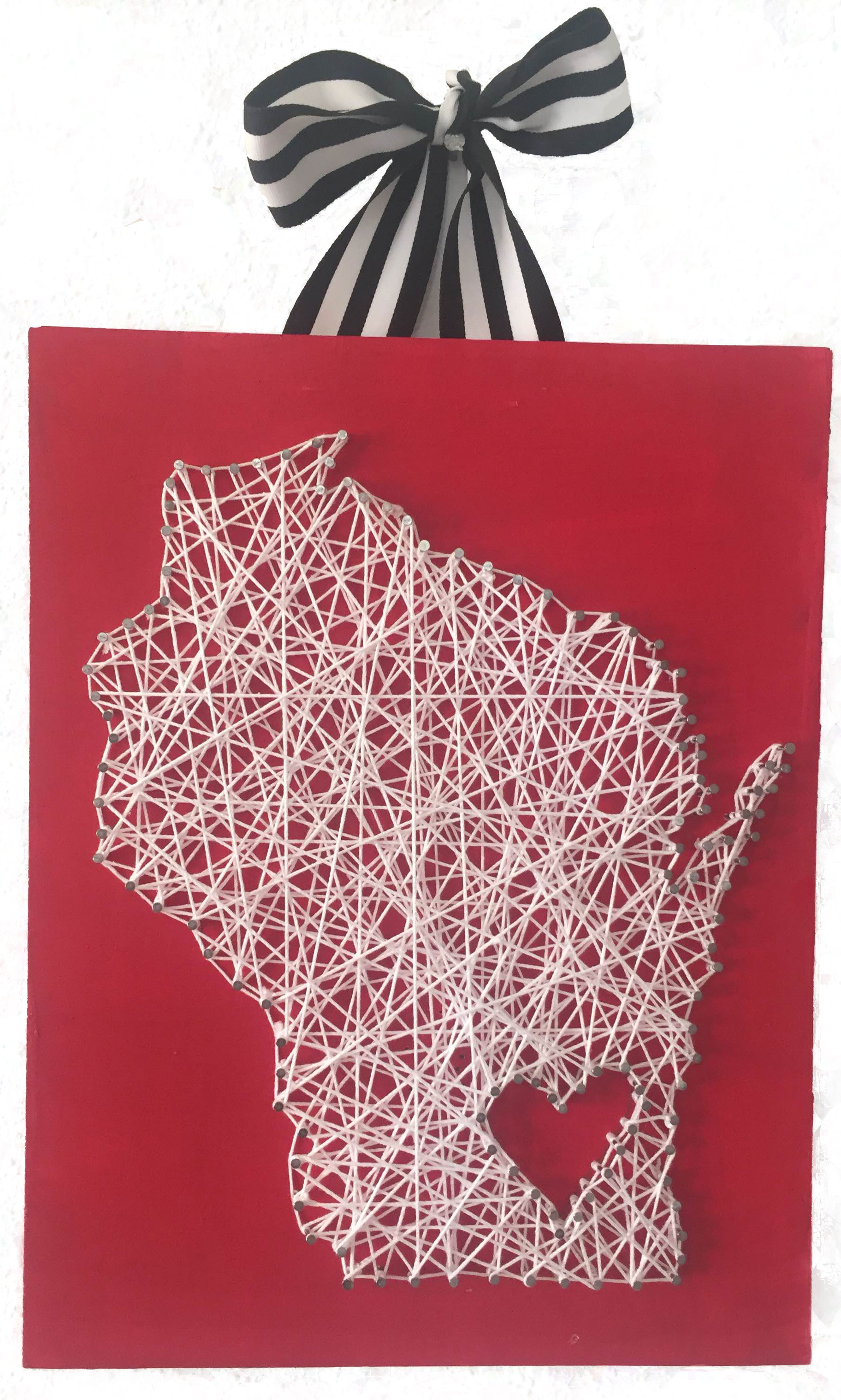 state of Wisconsin string art