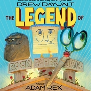 Book cover of The Legend of Rock Paper Scissors by Drew Dewal