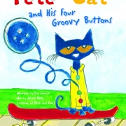 Book cover of Pete the Cat and His Four Groovy Buttons by James Dean