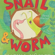 Book cover of Snail & Worm by Tina Kugler