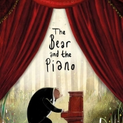 Book cover of The Bear and the Piano