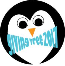 2017 giving tree penguin sticker