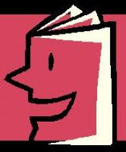 animation of a book with a happy face instead of a spine