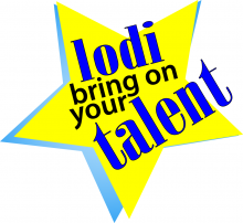 yellow star with text: lodi bring on your talent