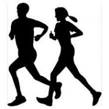 silhouettes of both male and female runners