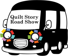 Quilt Story road show bus logo from Quilt Alliance