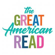 colorful logo for The Great American Read series on PBS television