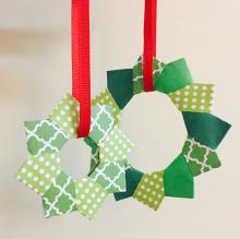 folded paper wreaths