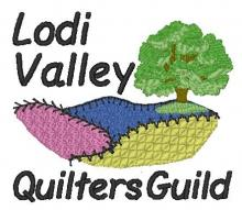 Lodi Valley Quilters Guild logo with tree and hills