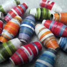 rolled paper beads